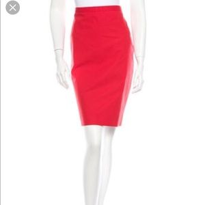 Moschino cheap and chic red pencil skirt Sz 4